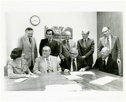 Donald Gerth and CSU Archives Creation Team photograph