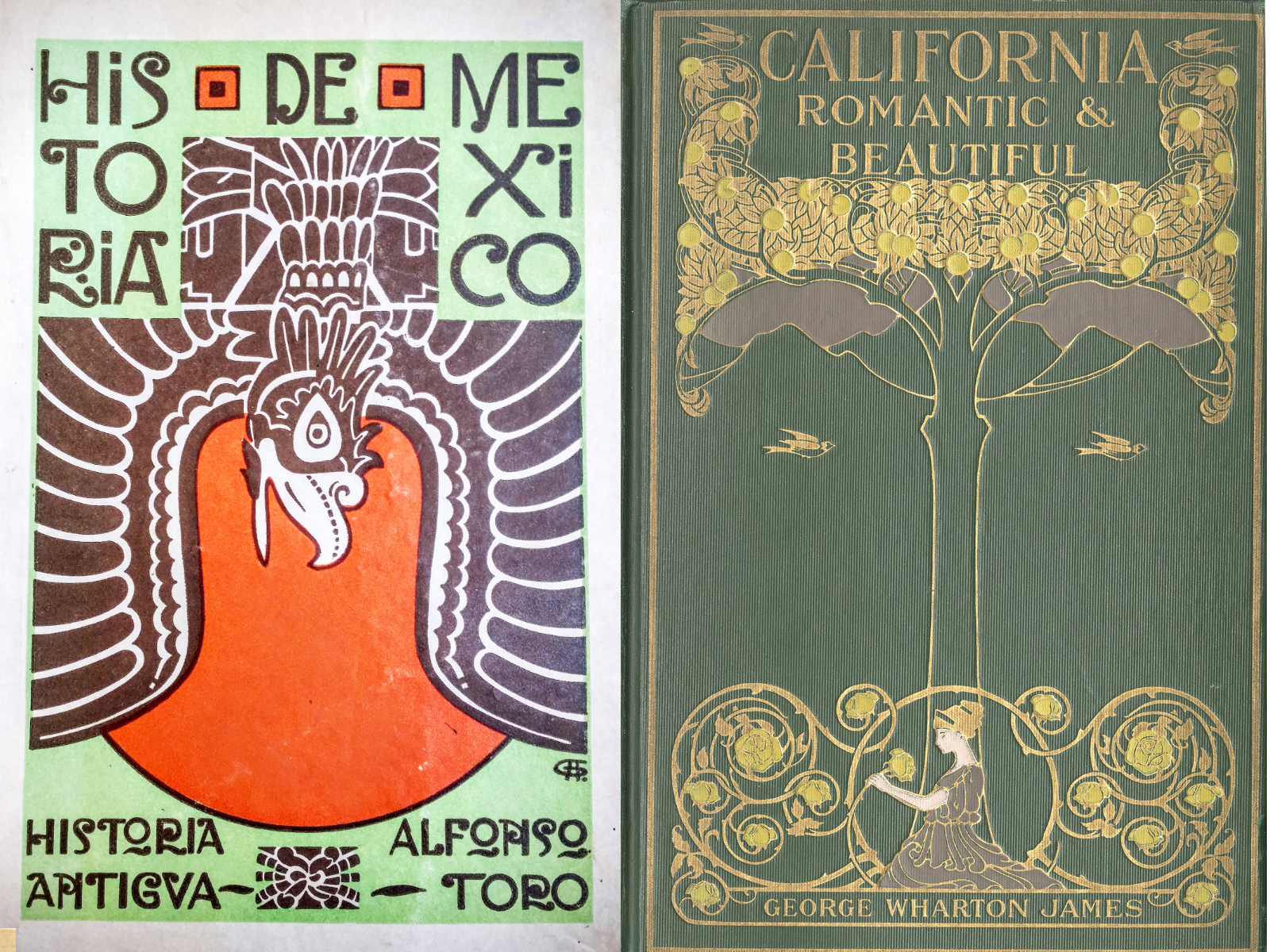 front covers of rare books at CSUDH