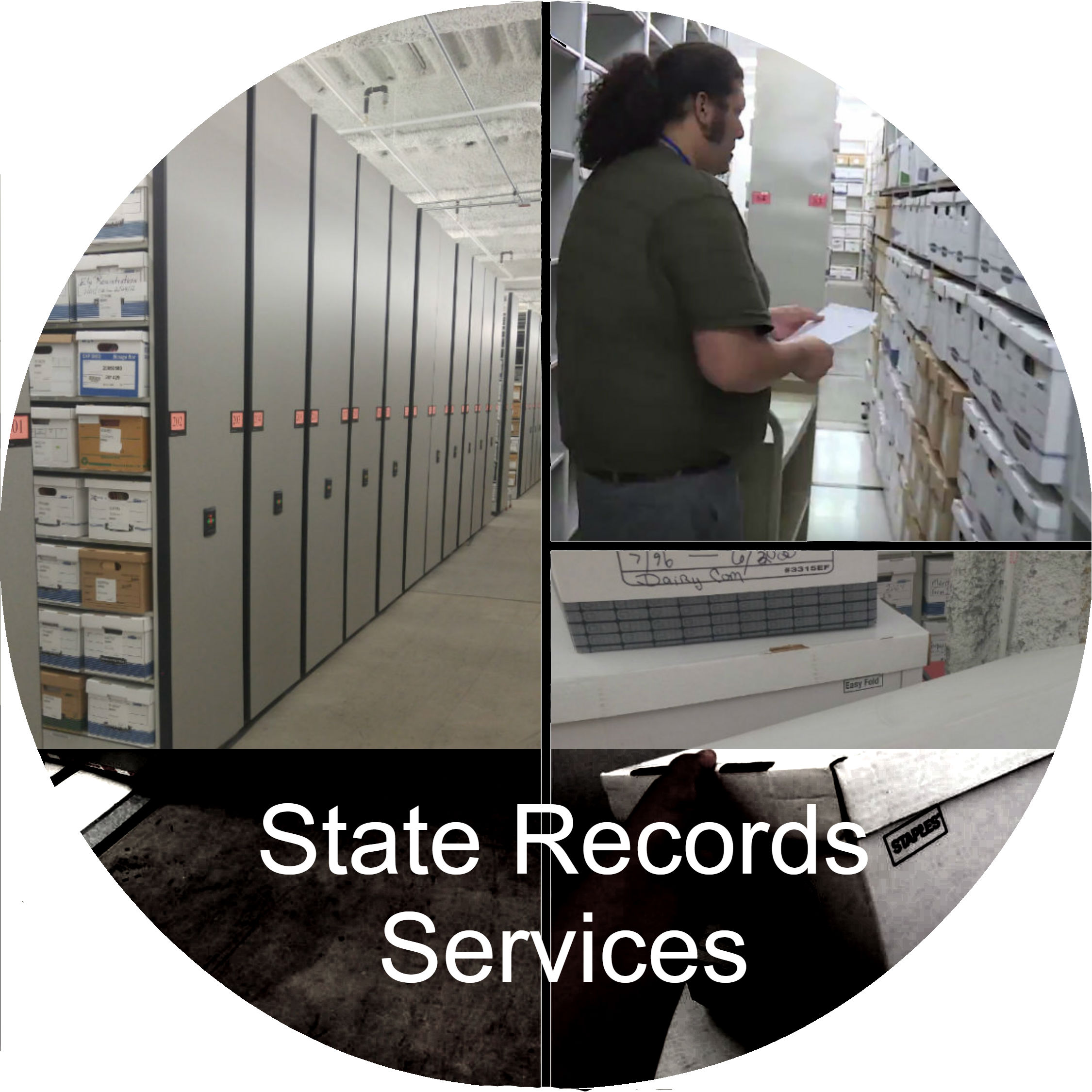 A button link to the State Records Services