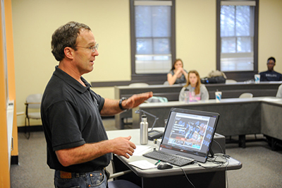 faculty teaching with computer