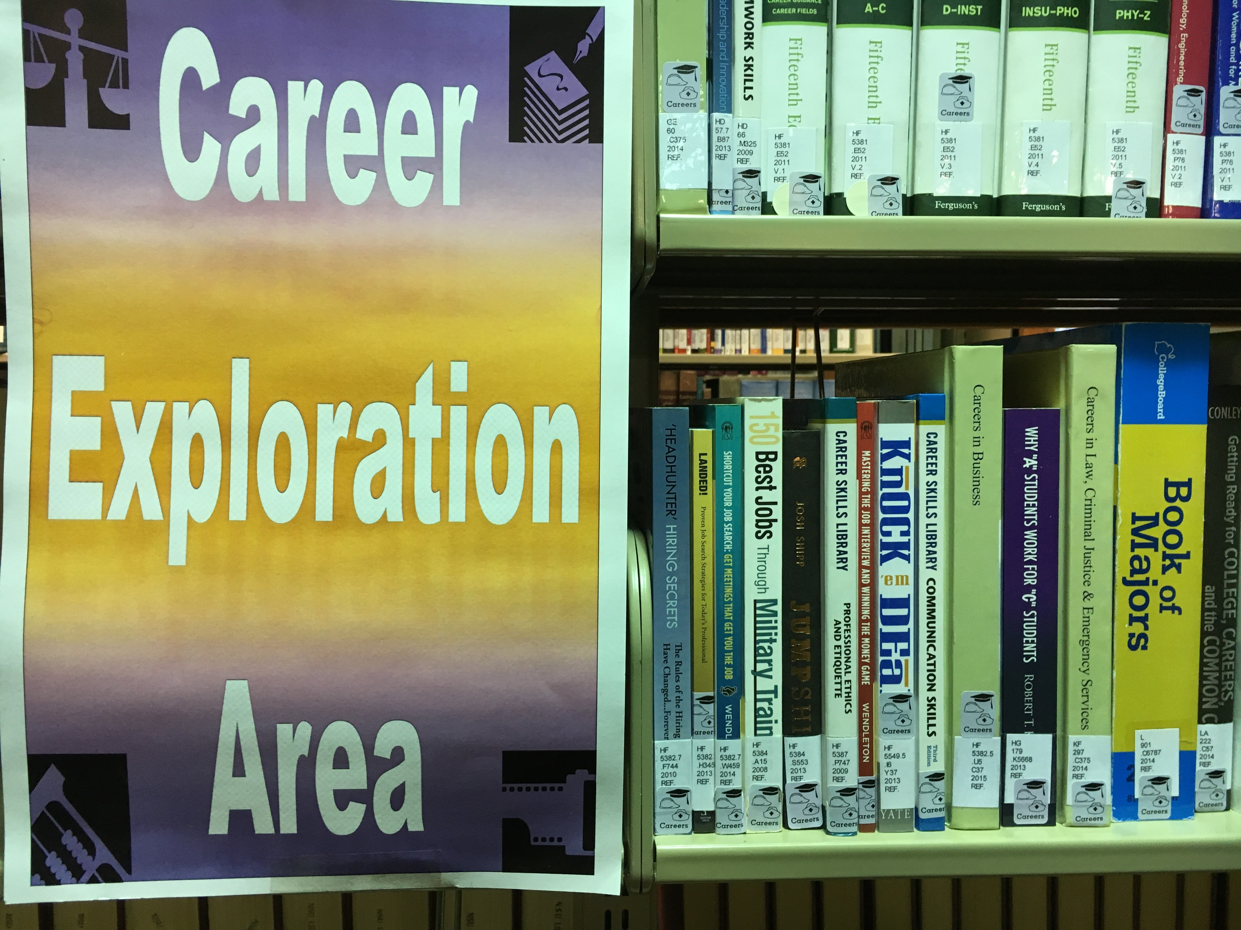 picture of career area at Watson Library