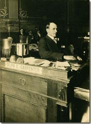 Carpenter at desk