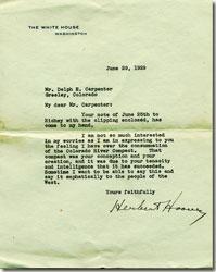 Hoover letter