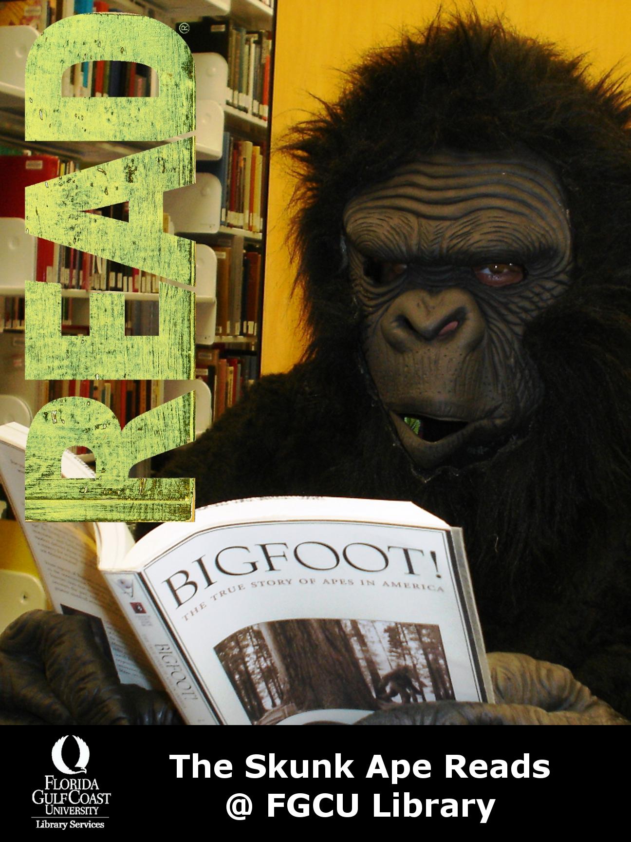 skunk ape reading a book