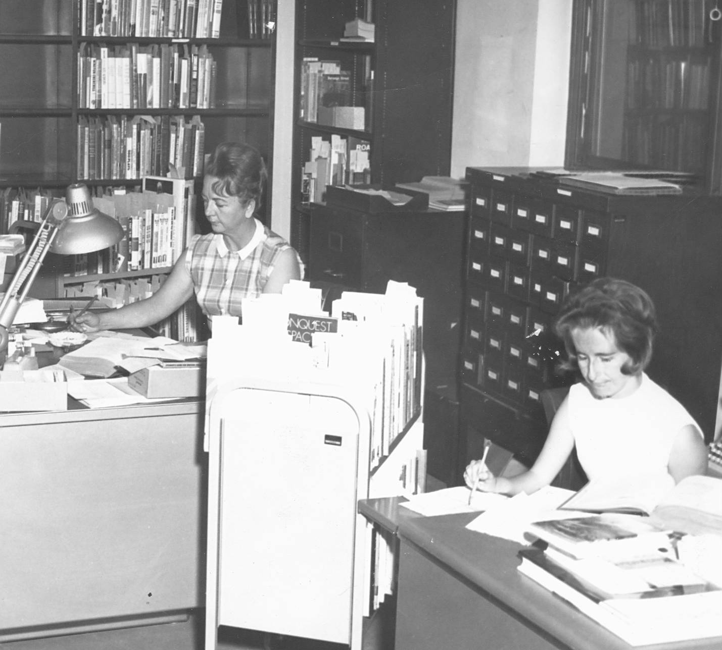 photograph of state library staff in the 1960s