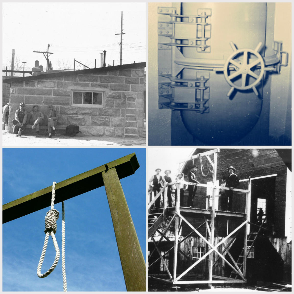 collage of images about the death penalty