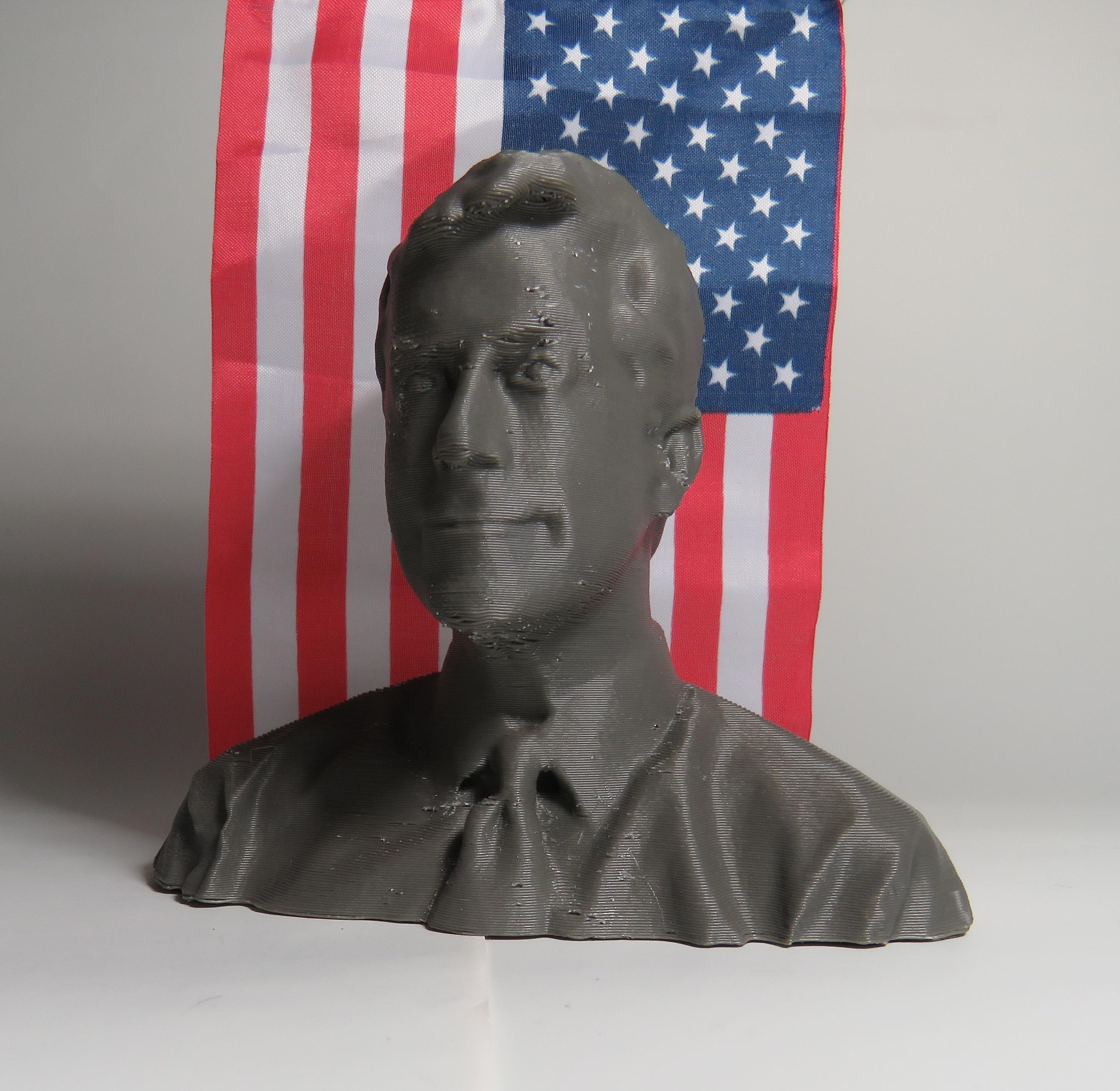 A Bust of Steven Colbertt