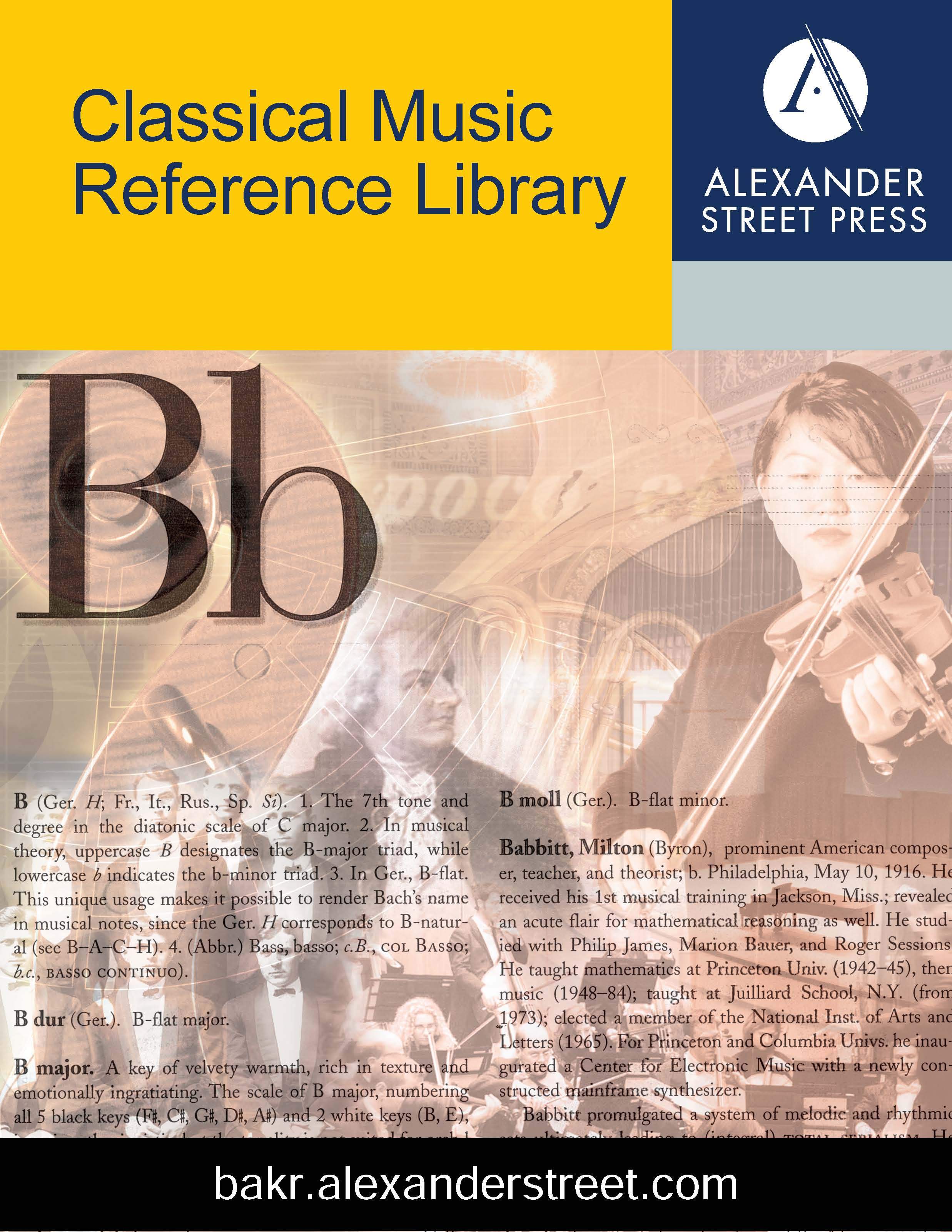 Browse Music Online: Classical Music Reference Library Titles