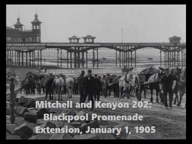 Mitchell and Kenyon 202: Blackpool Promenade Extension, January 1, 1905