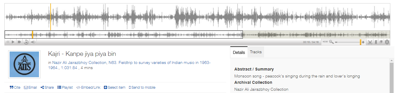 Nazir Ali Jairazhboy Archival Recording Screenshot