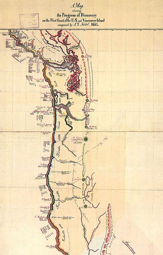 Map of the West Coast Discovery