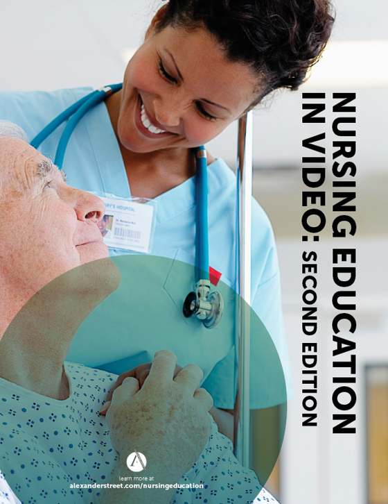 Nursing Education in Video 2nd edition brochure cover