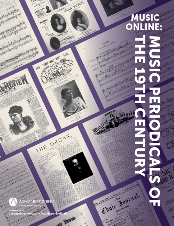 Browse Music Online: Music Periodicals of the 19th Century titles