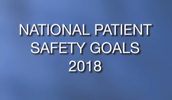 National Patient Safety Goals 2018