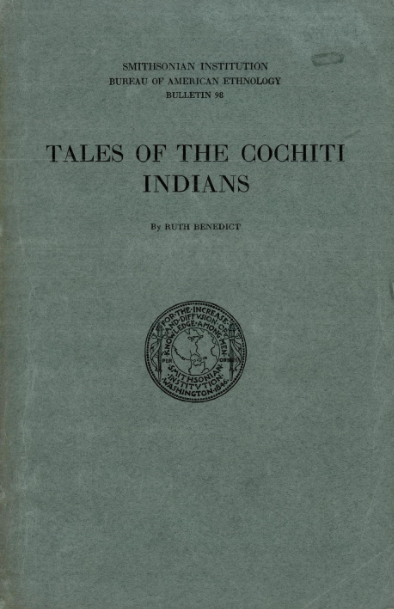 Tales of the Cochiti Indians - Ruth Benedict