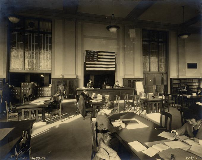 image of Library Reference Area in 1918