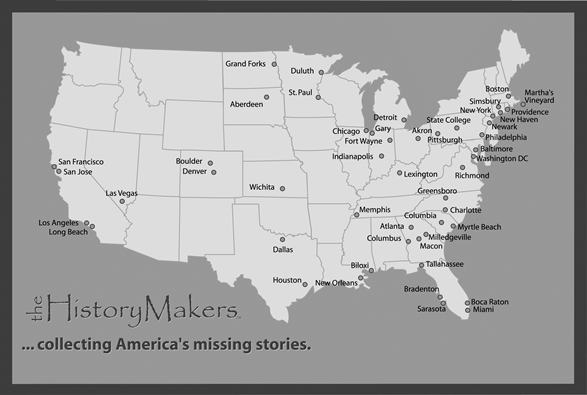 history makers map of the U.S