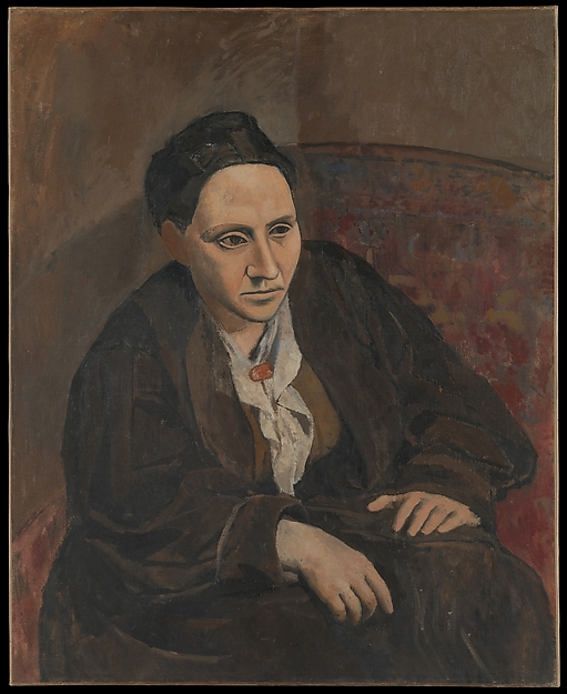 A painting of famous author, Gertrude Stein, by Pablo Picasso.