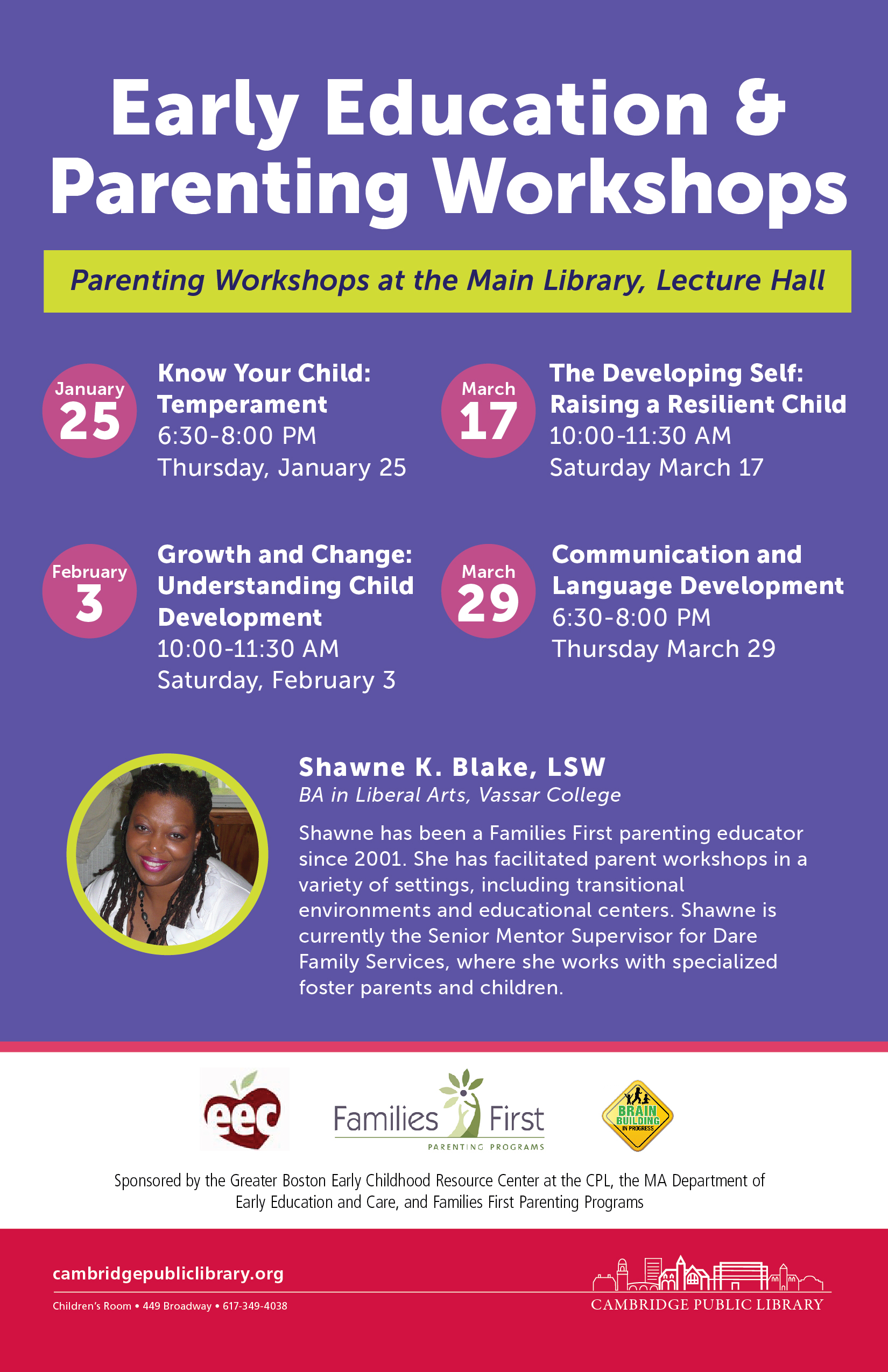 ECRC parenting workshop CPL