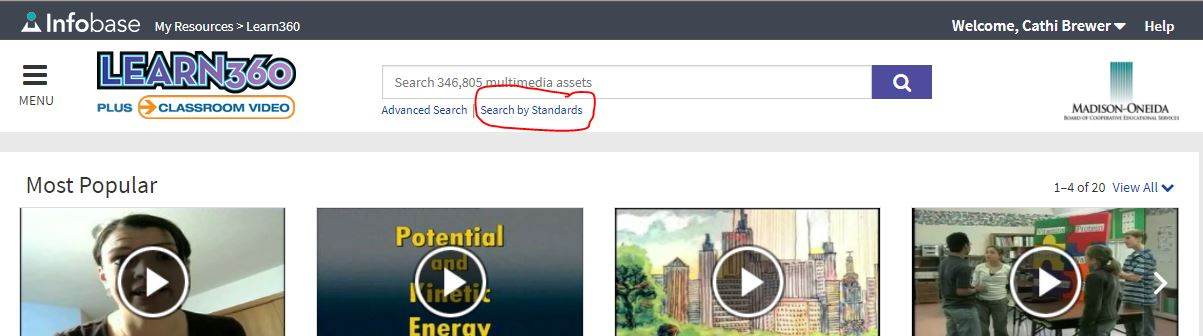 Click Search By Standards