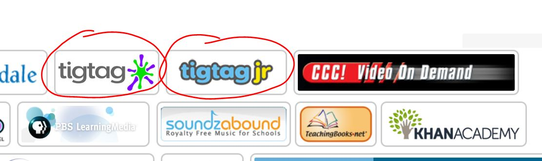 TigTag and TigTagJr on SNAP Home Screen