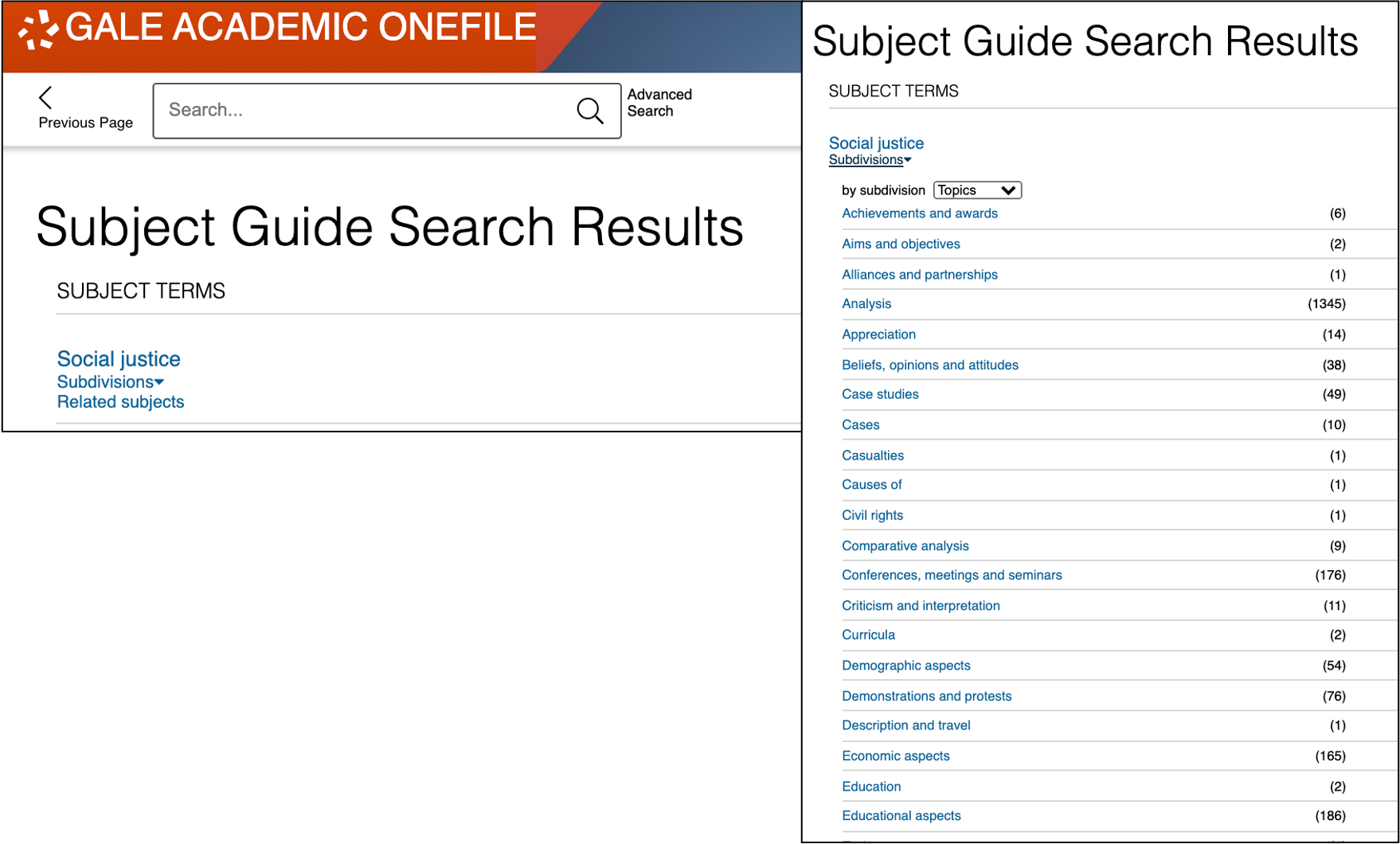 Subject Guide for Gale Databases