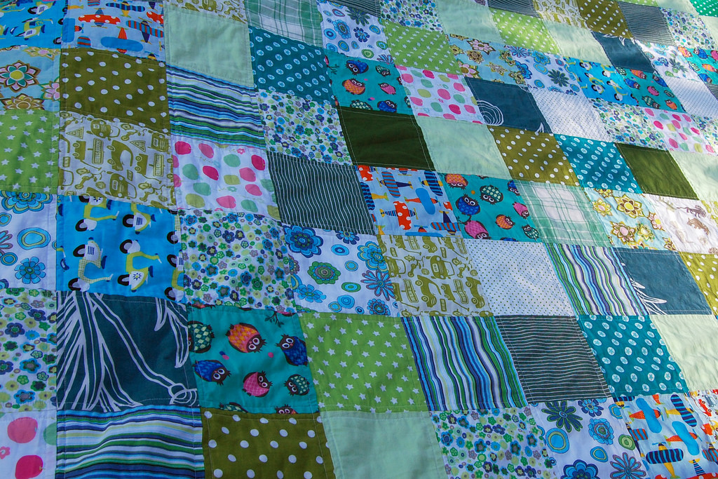An image of a patchwork quilt.