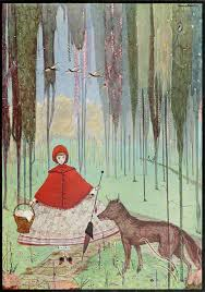 Illustration in The fairy tales of Charles Perrault Perrault, Charles, 1628-1703; Clarke, Harry, 1889-1931, illustrator. London: Harrap (1922)