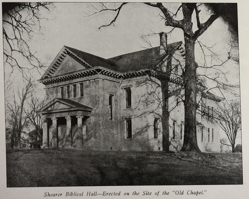 black and white image of Shearer Biblical Hall