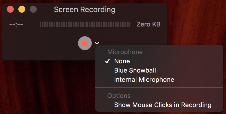 Show Mouse Clicks in Recording Example