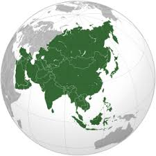 Asia Map And Satellite Image