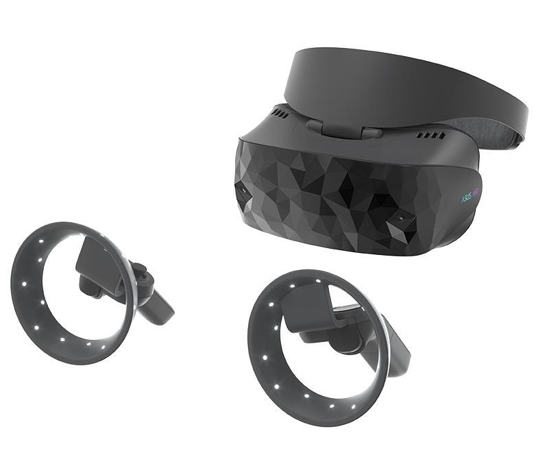 "Windows ""Mixed Rality"" HMD sample headset and controllers"