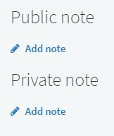 Public and private notes