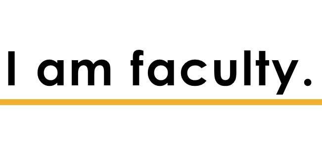 I am faculty.