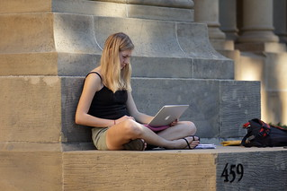 Student with a laptop