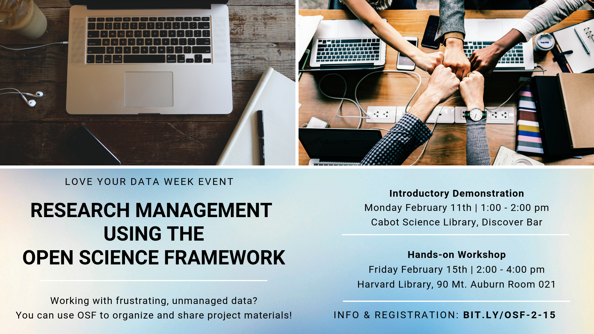 Hands-on Workshop: Research Management Using the Open Science Framework