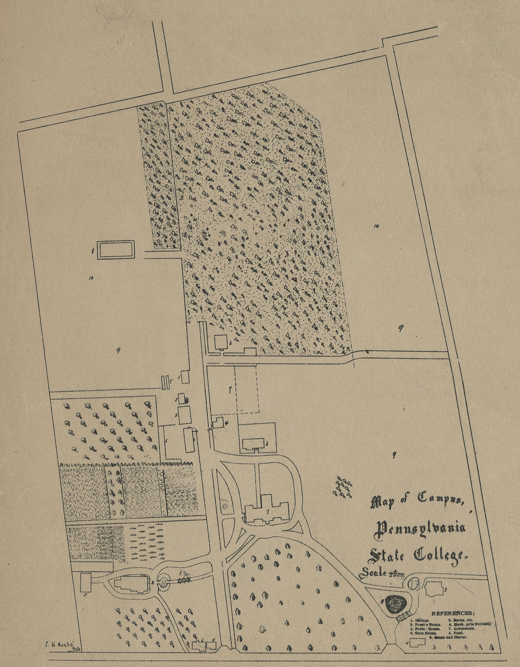 1881-1882 PSU UP campus map