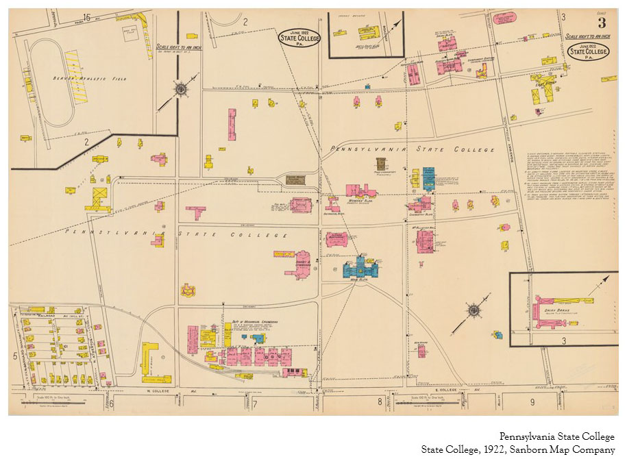 1922 PSU UP campus map