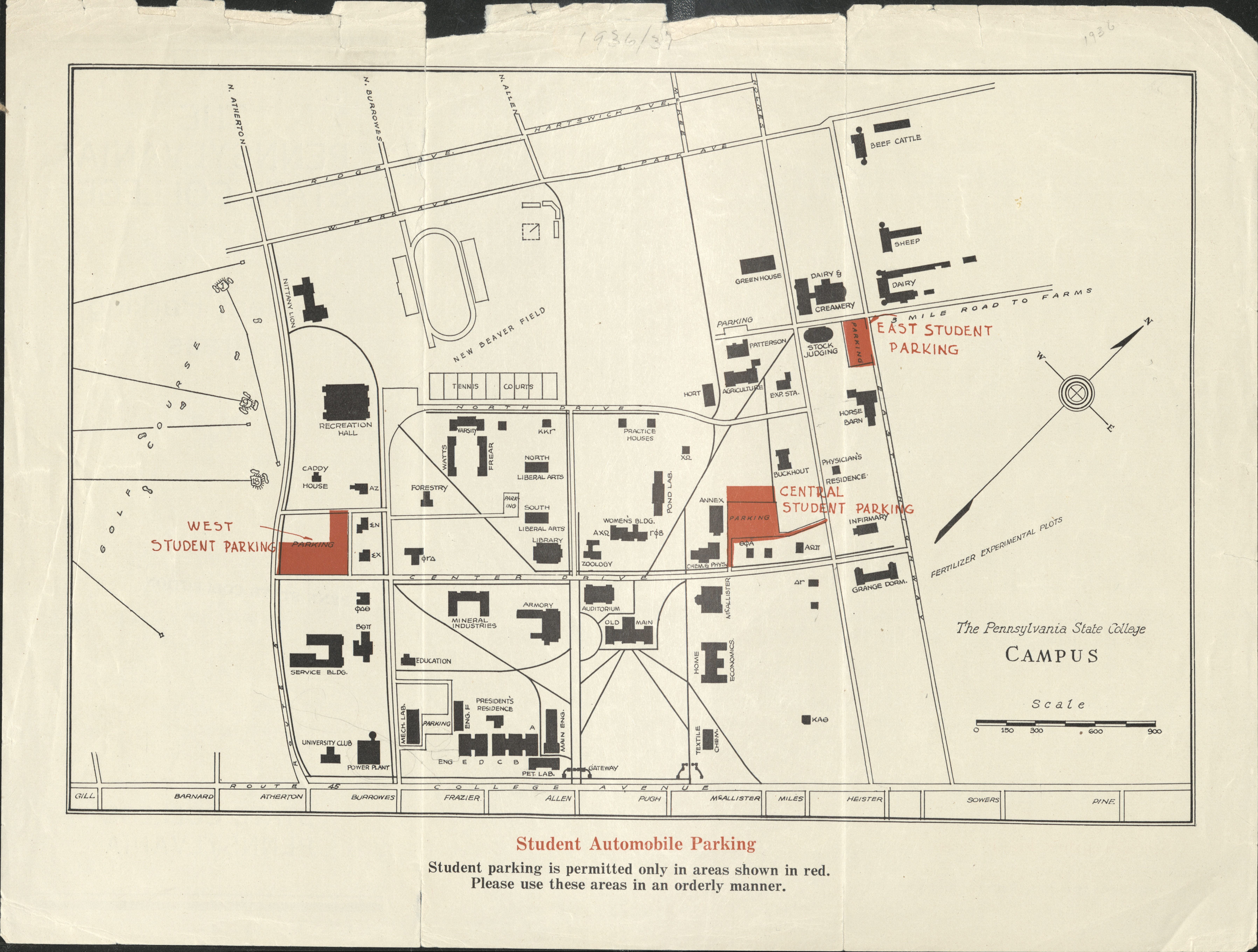 1936 PSU UP campus map