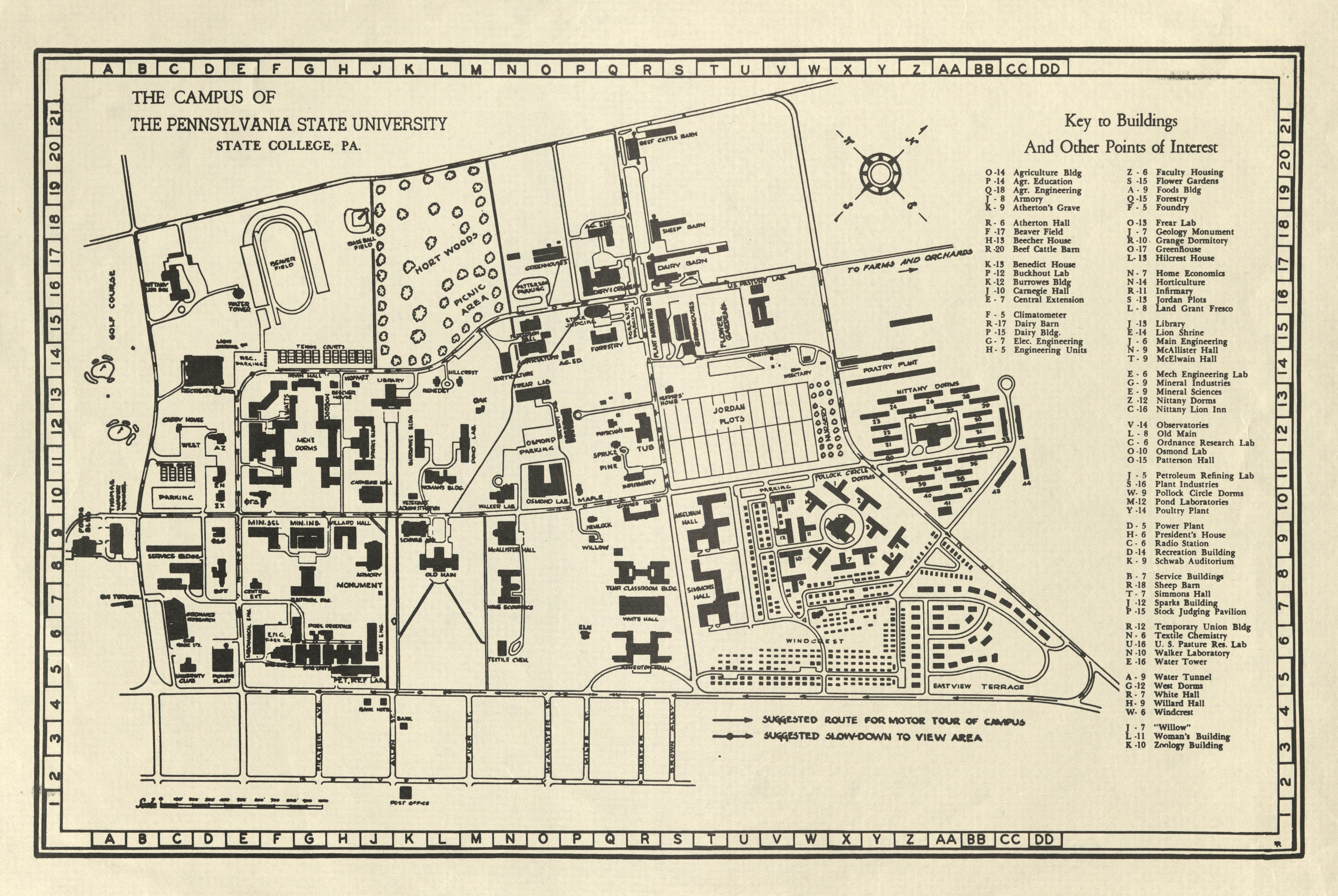 1948 PSU UP campus map