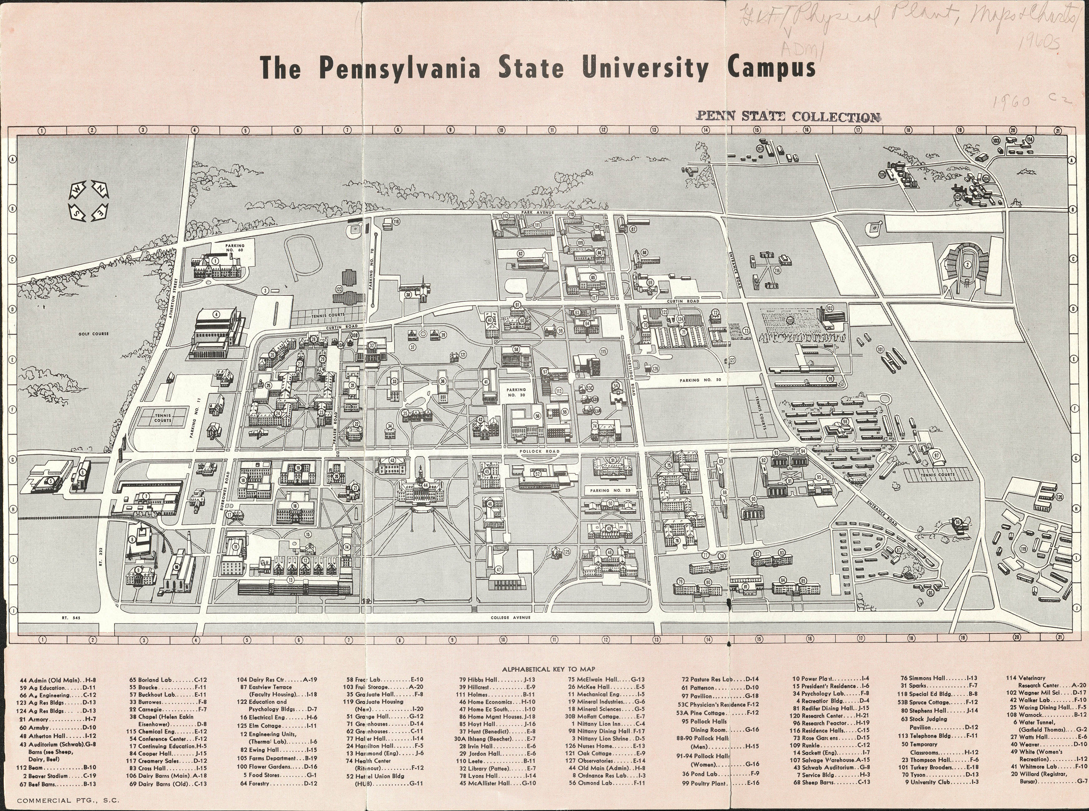 1960 PSU UP campus map