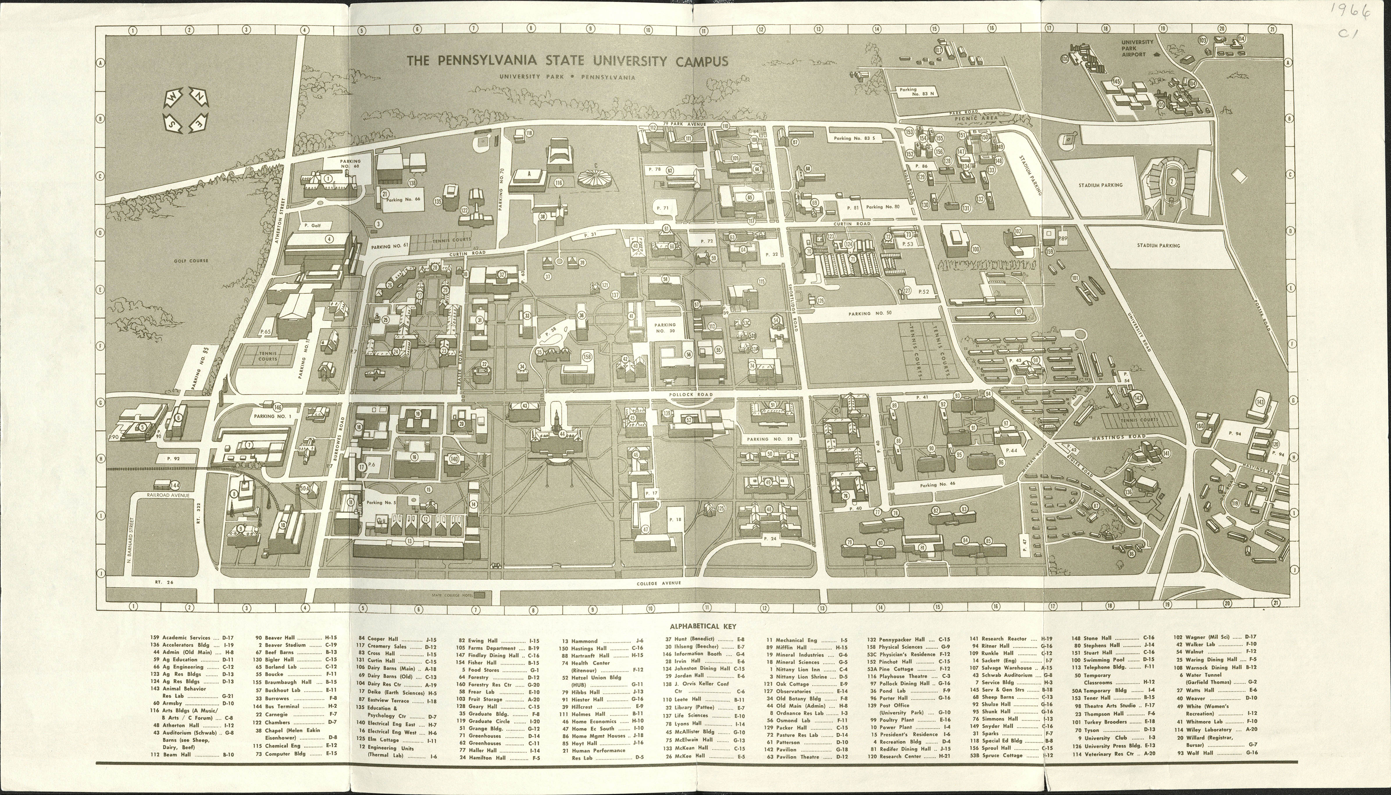 1966 PSU UP campus map