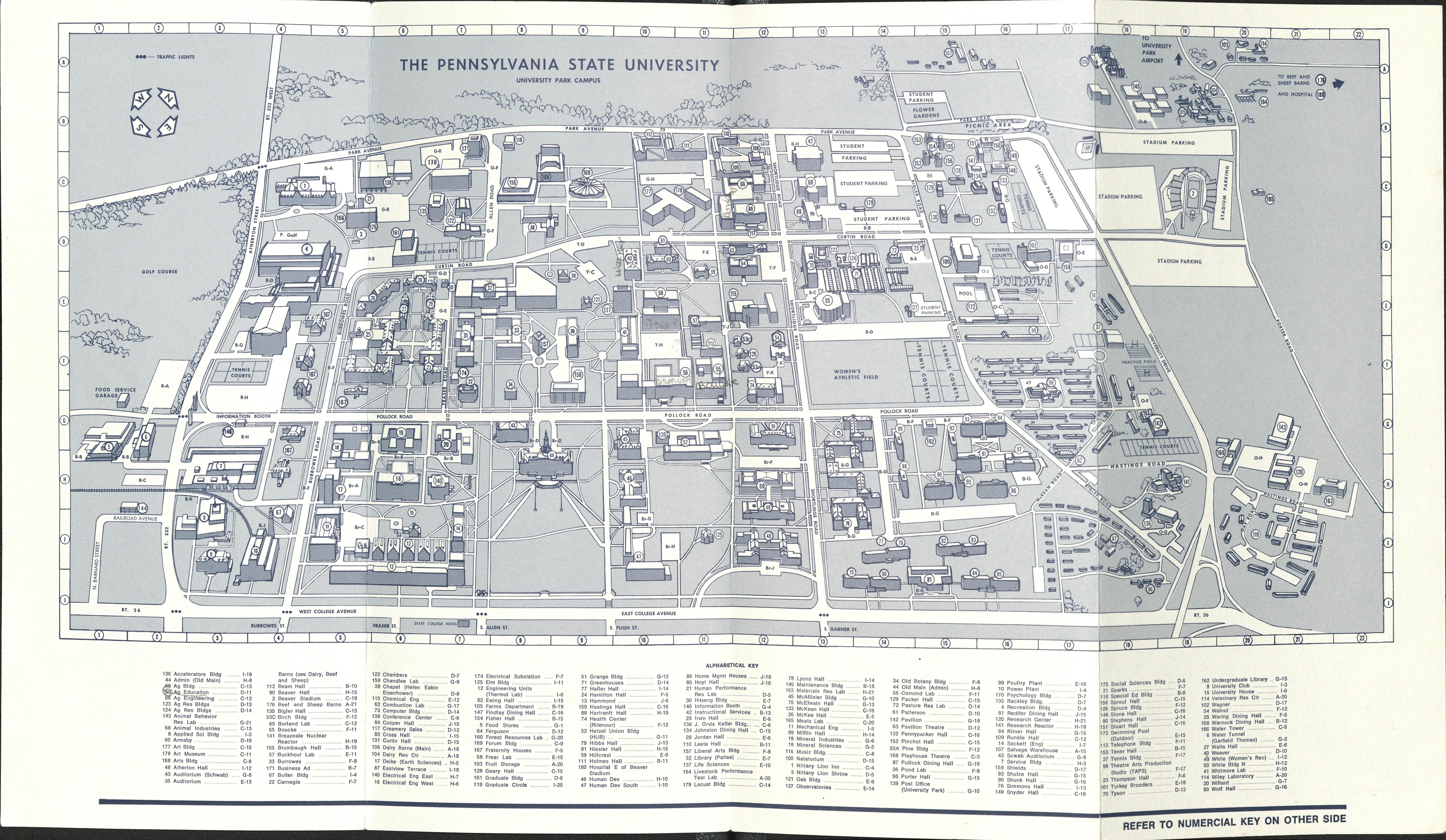 1971 PSU UP campus map