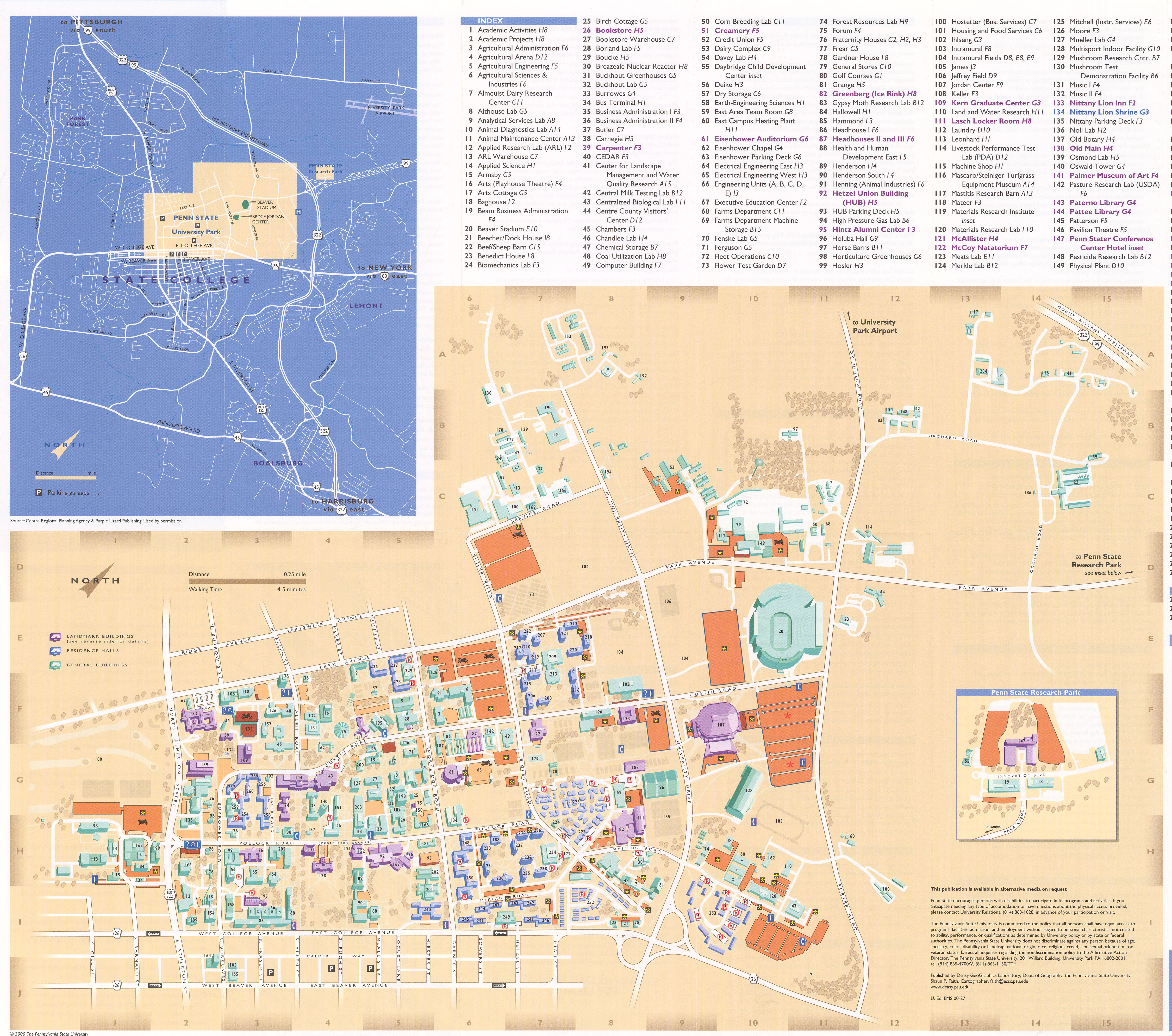1980 PSU UP campus map