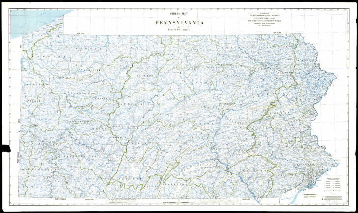 Higgbee Stream map of Pennsylvania