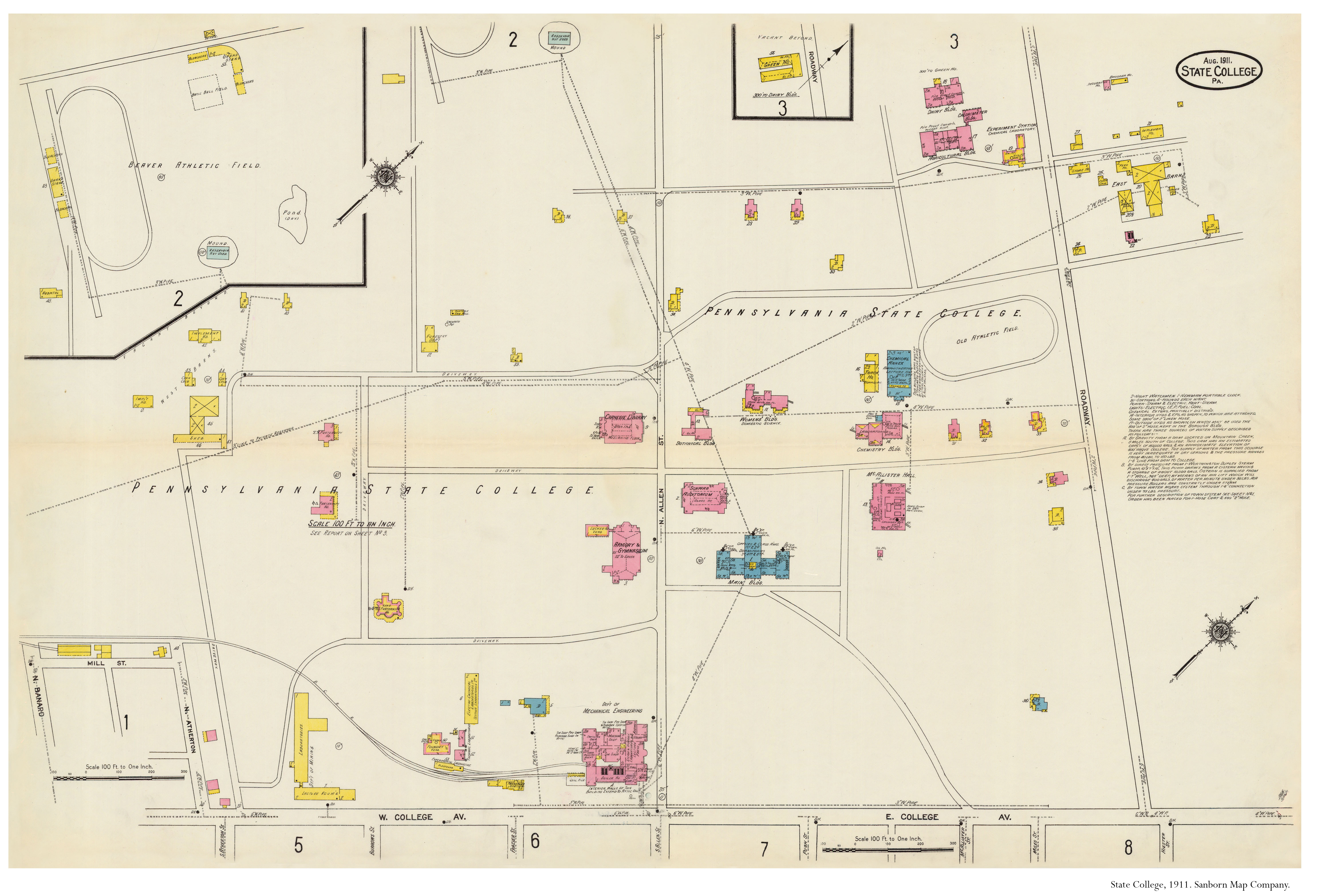 1911 PSU UP campus map