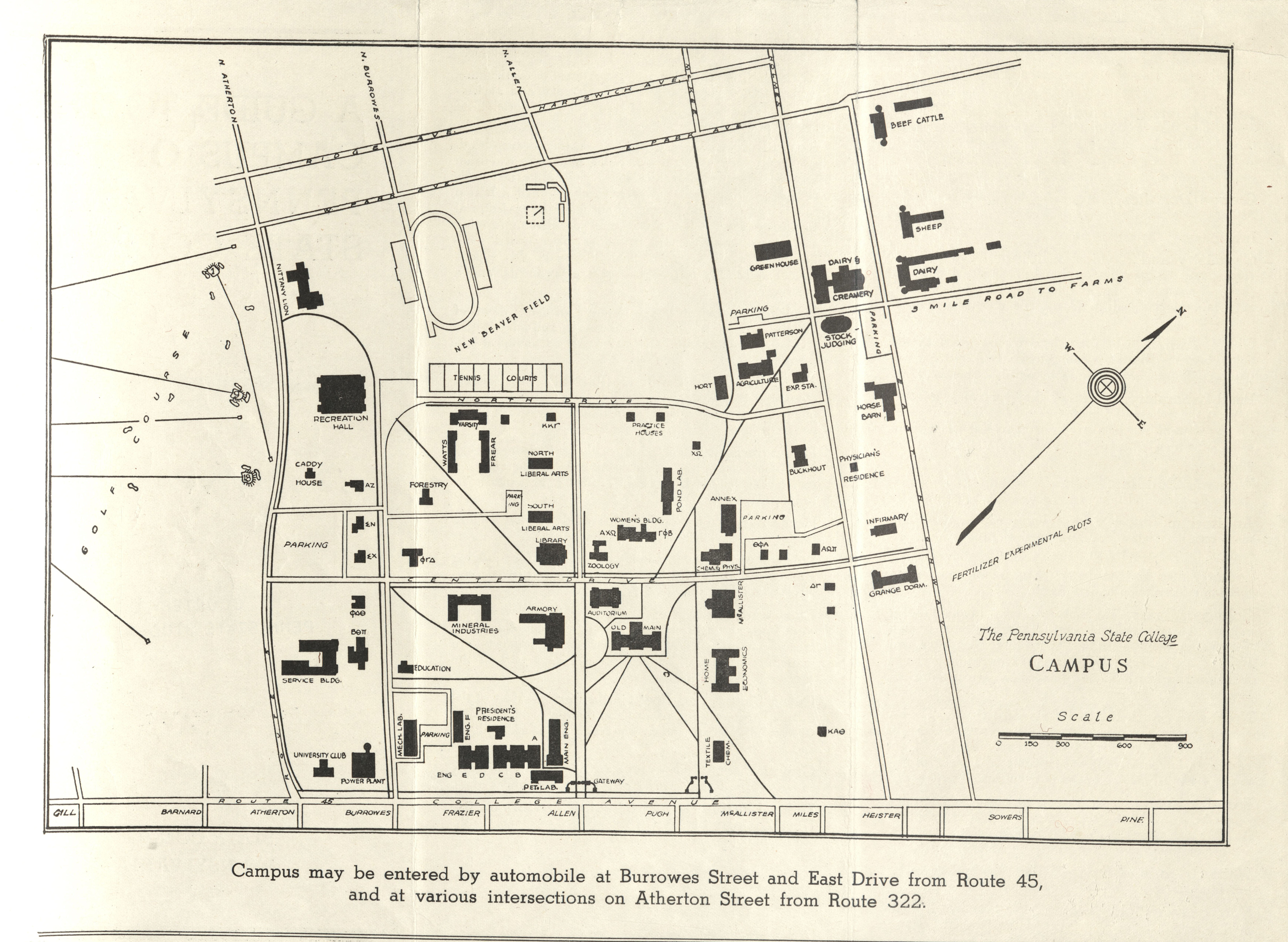 1933 PSU UP campus map