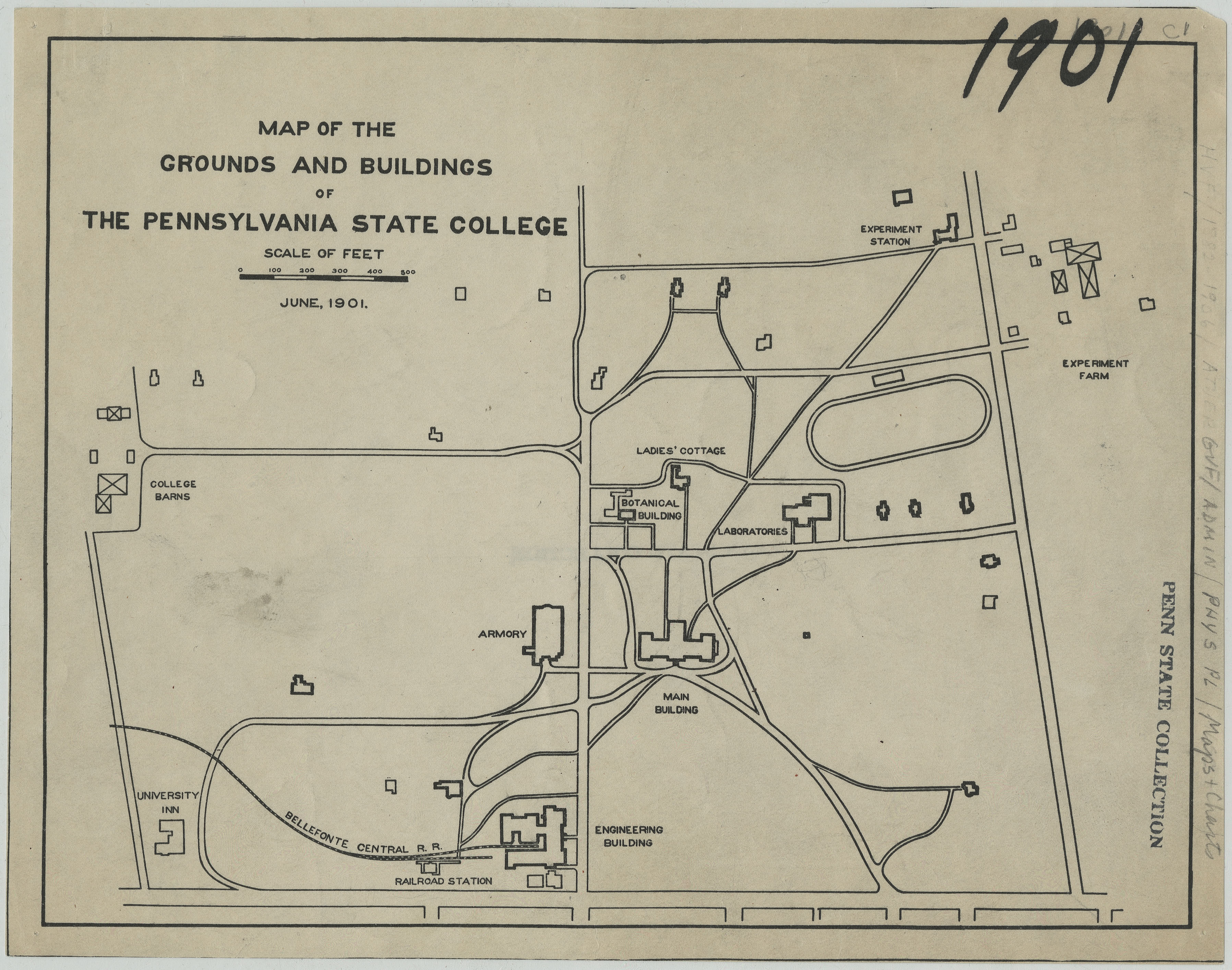 1901 PSU UP campus map