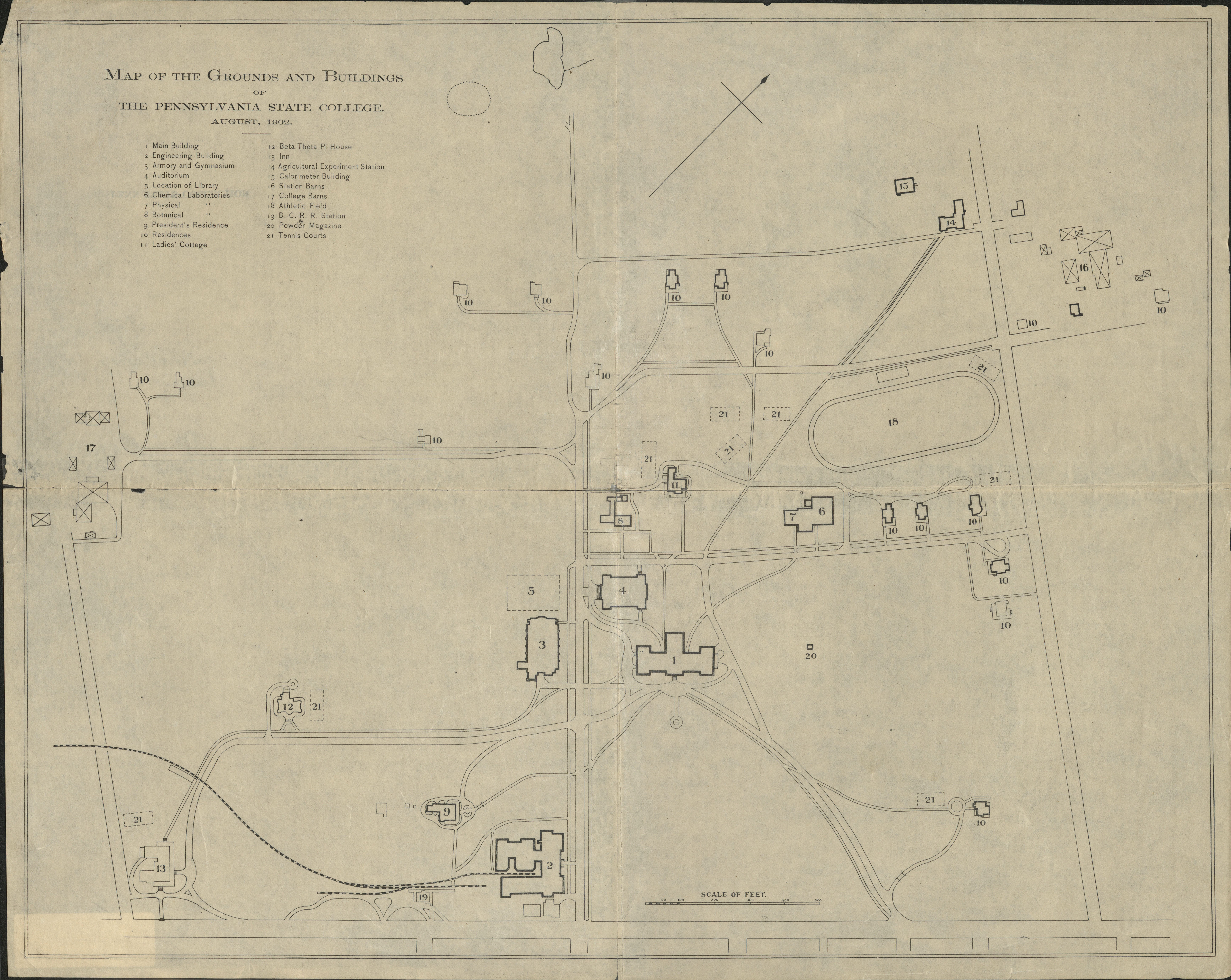 1902 PSU UP campus map