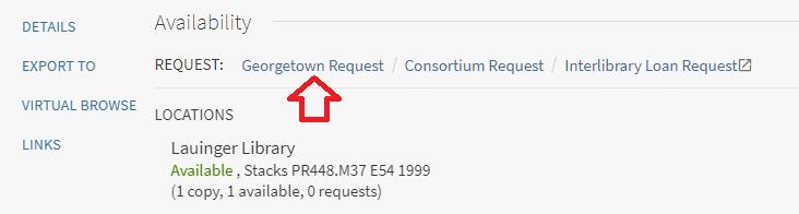 Georgetown request